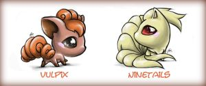 Vulpix Family by Shimochii