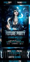 Future Party Flyer Template by odindesign