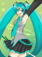 vocaloid hatsune miku by o0tom0o