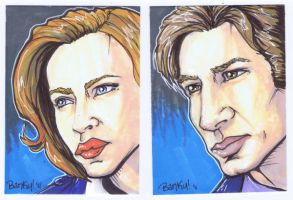 X-Files:Mulder and Scully by BankyOne