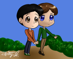 The New Normal - Bryan and David chibis by iTiffanyBlue