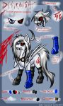Distraught's revamped ref sheet by WhiteNoiseGhost