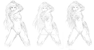 Witchblade Sketch WIP by sorah-suhng
