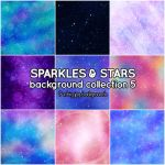 Sparkles and Stars background collection 5 by Suuz-chan