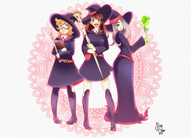 Little Witch Academia fan art by SilvyChan
