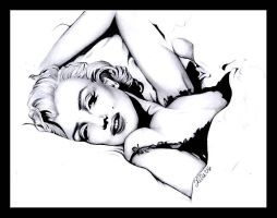 .:Marilyn Monroe:. by tainted-orchid