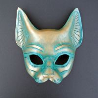 Leather Egyptian Cat Mask by merimask