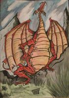The red Dragon by NekoWilliams