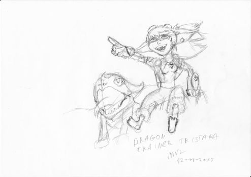 quick new dragon trainer tristana skin sketch by marnicqvl