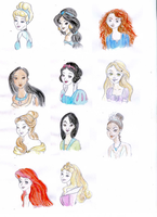 Disney's Princesses by Daughter-of-Day