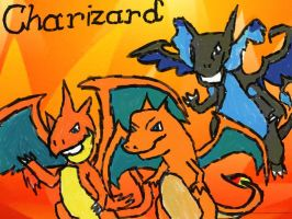 Day 1- Favorite Fire Type- Charizard by Gigiluv11