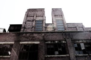 Old Gas Works - Red brick building by raxm