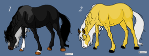 Natural Horse Adopts by BlackWolf1112-ADOPTS