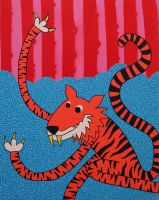 Dancing Tiger by popartmonkey
