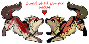 Blood Shed couple by shockmyworld12
