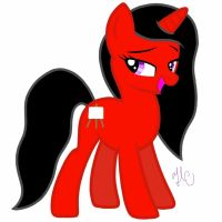 Red Unicorn Mare by Ivory-Keys-mlp