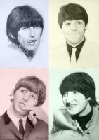 The Beatles in 4 Moods by FrankGo