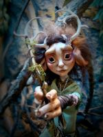 SOLD: Ephea - Ooak Kirin Fae Poseable Art Doll by FaunleyFae