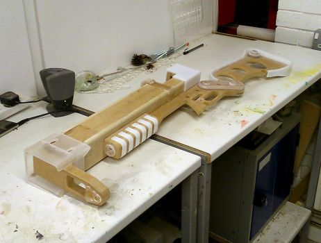 Fallout 3 AER9 Laser Rifle WIP 2 by Thomasotom