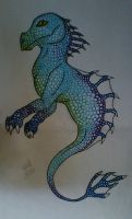 Waterdragon with Fine Liner by CelCel98
