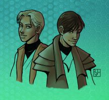 Atton and Disciple color by KabochaN
