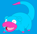 Mr.Hugs the Slowpoke by kasanelover