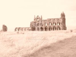 Whitby Abbey Sepia 2 by NoxNoctisUmbra