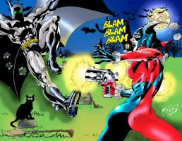 Batman vs. Harley Quinn by Dragonslayer9000