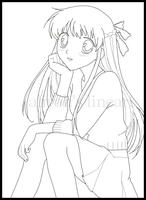 Tohru Lineart by AliyahR