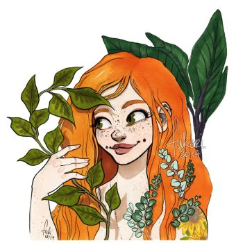 plant lady by Fukari