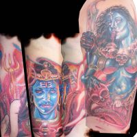 lordshiva and kali by tattooneos