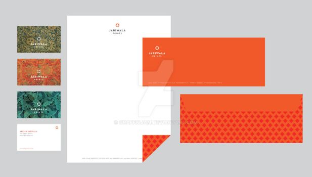 Jariwala Prints stationery 1 by grafficjam