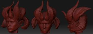 daemoness head sculpt by slipgatecentral