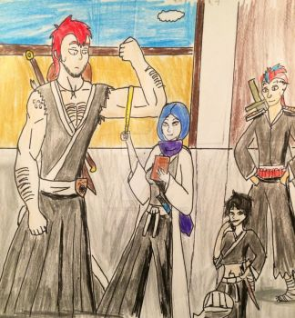 Viktor and Eithan meets Em and Otsuru by 14ladybuggirl