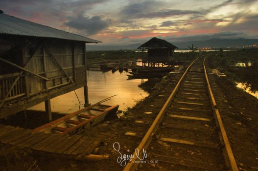 sunset at sumurup tuntang by piiyrhaa