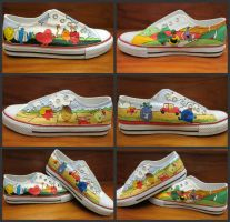 Mr Men + Little Miss Shoes by bloofeesh