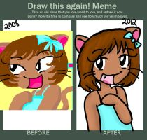 Candy the Cat: Draw again Meme by Shellybelly95