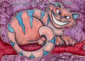 Cheshire Cat Picture ACEO by candcfantasyart