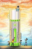Thermos Tower by FoxyTeah