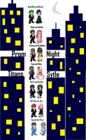 Prom Night- Titans Style by CelestialMoonMagic