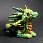 Green and Gold Dragon Alternative View by RaLaJessR