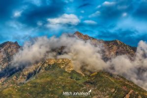 Clouds Around Twin Peaks HDR by mjohanson