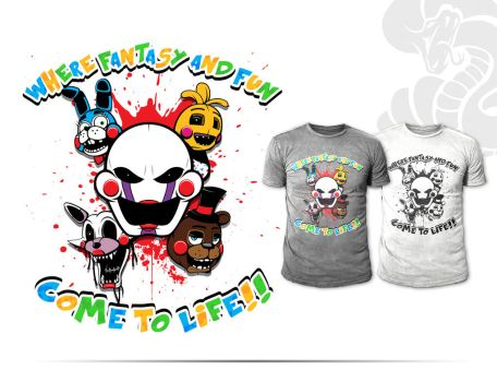 FnaF 2 Cast Shirt Layouts by Primogenitor34