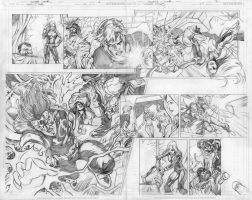 Teen Titans 71 p.6-7 pencils by Cinar