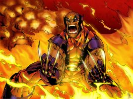 Wolvie's on Fire by Ruminus