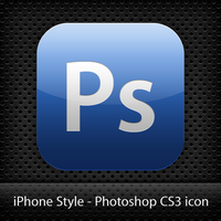 Ps CS3 iPhone icon -PREVIEW- by masterddd