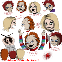 Seed of Chucky doodles by LuxBlack