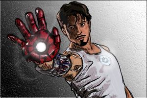 Robert Downey Iron Man by The-Great-Shiniku