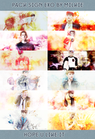 [PSD Pack] Pack Sign EXO by Milkie by strawberryminna112