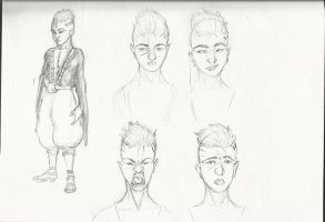 Character Project: Character one sketches by tylerEdraws